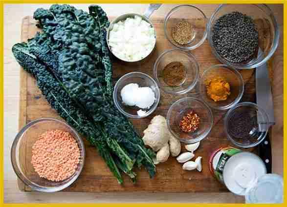 Favorite Recipes for November, Curried Lentils & Kale